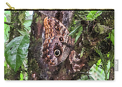 Owl Butterfly On A Tree Carry-all Pouch
