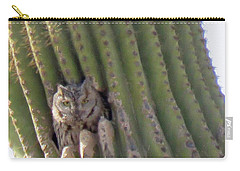 Owl In Cactus Burrow Carry-all Pouch