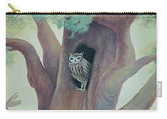 Owl In Tree Carry-all Pouch