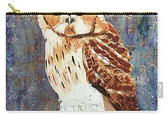 Owl On Snow Carry-all Pouch