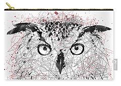 Owl Sketch Pen Portrait Carry-all Pouch