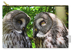 Owl Talk Carry-all Pouch by Rainer Kersten