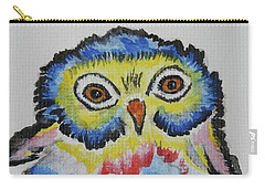 Owl Will Alway Love You - Whimsical Colorful Original Painting #646 Carry-all Pouch by Ella Kaye Dickey