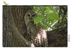 Owl With Leaf Carry-all Pouch