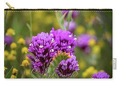 Carry-all Pouch featuring the photograph Owl's Clover by Peter Tellone
