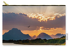 Oxbow At Sunset Carry-all Pouch by Mary Hone