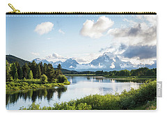 Oxbow Bend In The Grand Teton National Park Carry-all Pouch by Serge Skiba