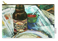 Oyster And Amber Carry-all Pouch
