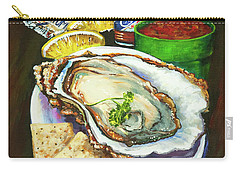 Oyster And Crystal Carry-all Pouch
