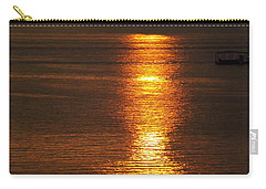 Ozark Lake Sunset Carry-all Pouch by Don Koester