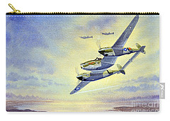 Carry-all Pouch featuring the painting P-38 Lightning Aircraft by Bill Holkham