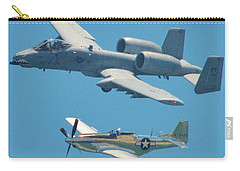P 51d Mustang And A10 Warthog Tank Killer Carry-all Pouch