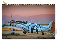 P-51d Mustang 'dakota Kid II. The Long Island Kid' And Casey Odegaard Carry-all Pouch