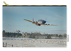 Carry-all Pouch featuring the digital art P51 Mustang - Bodney Blue Noses by Pat Speirs