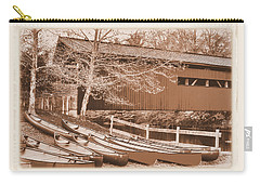 Pa Country Roads - Bowmansdale-stoner Covered Bridge Over Yellow Breeches Creek - Sepia Carry-all Pouch