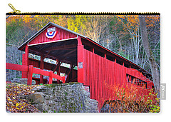 Pa Country Roads - Josiah Hess Covered Bridge Over Huntington Creek No. 13 - Columbia County Carry-all Pouch