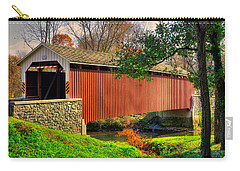 Pa Country Roads - Siegrists Mill Covered Bridge Over Big Chiques Creek No. 2 - Lancaster County Carry-all Pouch