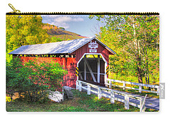 Pa Covered Bridges - New Baltimore Covered Bridge Over Raystown Branch Of Juniata River No. 5b  Carry-all Pouch