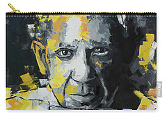 Carry-all Pouch featuring the painting Pablo Picasso Portrait by Richard Day