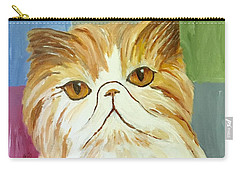 Carry-all Pouch featuring the painting Pablo by Victoria Lakes