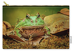 Carry-all Pouch featuring the photograph Pac Man - Frog by Nikolyn McDonald