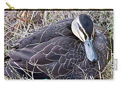 Carry-all Pouch featuring the photograph Pacific Black Duck Mother by Miroslava Jurcik