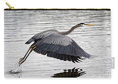 Pacific Great Blue Heron On Lift Off Carry-all Pouch