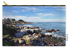 Pacific Grove Shoreline Carry-all Pouch by Gina Savage