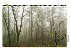 Pacific Northwest Foggy Morning Forest Scene Carry-all Pouch