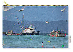 Pacific Ocean Herring Carry-all Pouch by Randy Hall