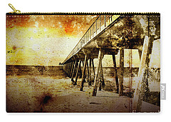 Carry-all Pouch featuring the photograph Pacific Pier by Phil Perkins