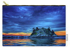 Carry-all Pouch featuring the photograph Pacific Sunset by John Poon