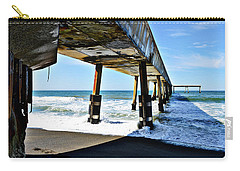 Carry-all Pouch featuring the photograph Pacifica Pier Perspective by Glenn McCarthy Art and Photography