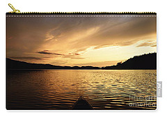Carry-all Pouch featuring the photograph Paddling At Sunset On Kekekabic Lake by Larry Ricker