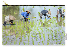 Paddy Field 1 Carry-all Pouch by Werner Padarin
