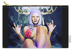 Carry-all Pouch featuring the painting Pagan Paradise by Baroquen Krafts