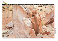 Carry-all Pouch featuring the photograph Pages Of Stone In Valley Of Fire by Ray Mathis
