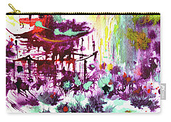 Carry-all Pouch featuring the painting Pagoda by Zaira Dzhaubaeva