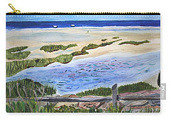 Carry-all Pouch featuring the painting Paines Creek  by Donna Walsh