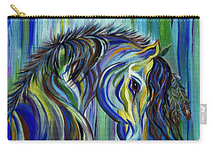Paint Native American Horse Carry-all Pouch