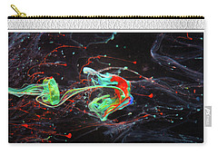 Paint Pouring Collection Carry-all Pouch by Modern Art Prints