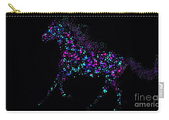 Carry-all Pouch featuring the painting Paint Splattered Pony by Nick Gustafson