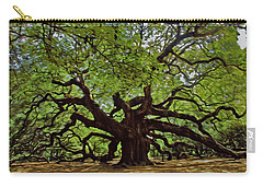 Painted Angle Tree Carry-all Pouch