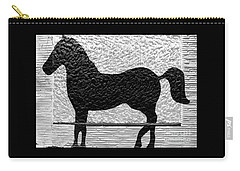 Carry-all Pouch featuring the photograph Painted Black - Stone Pony by Colleen Kammerer