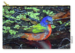 Painted Bunting After Bath Carry-all Pouch