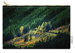 Carry-all Pouch featuring the photograph Painted By A Sunbeam by Mary Jo Allen