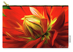 Painted Dahlia In Full Bloom Carry-all Pouch