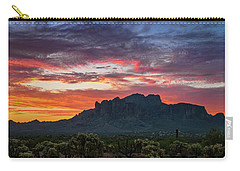 Carry-all Pouch featuring the photograph Painted Desert Skies Over The Supes  by Saija Lehtonen