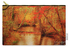Painted Fall Carry-all Pouch by Geraldine DeBoer