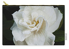 Carry-all Pouch featuring the photograph Painted Gardenia by Phyllis Denton